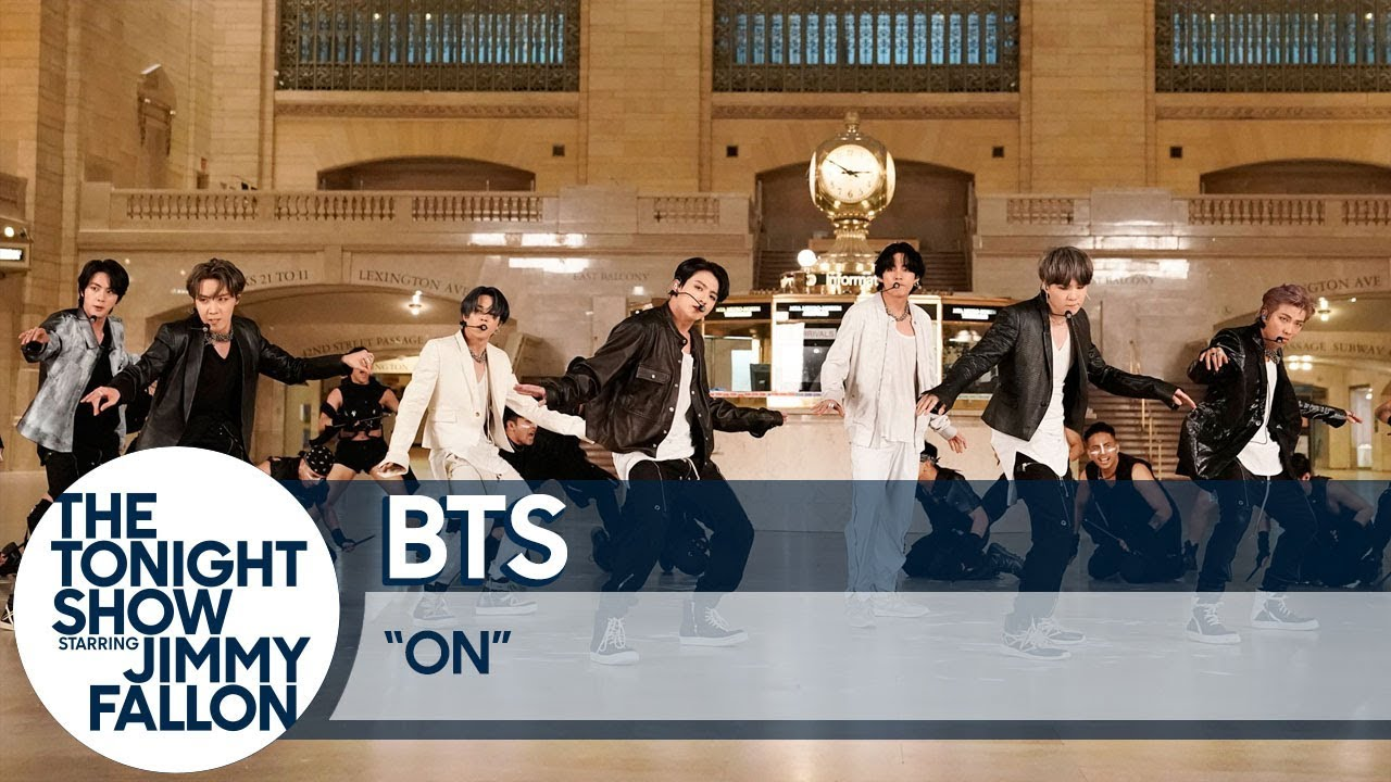 "BTS Perform ""ON"" at Grand Central Terminal for The Tonight Show"