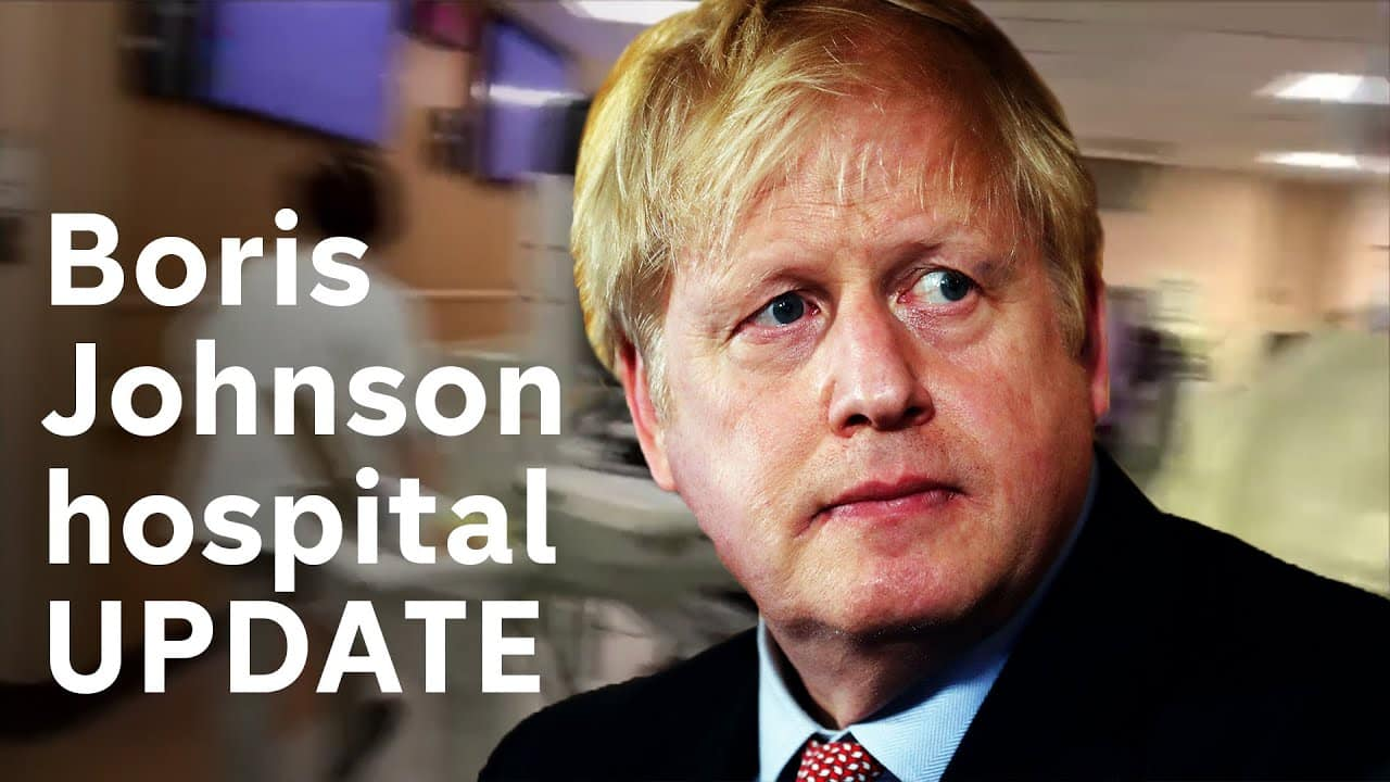 Boris Johnson in hospital.