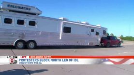 Truck-and-trailer-drive-through-crowd-protesting-in-Tulsa-on-live-TV-attachment