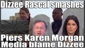 Piers tries to bait Dizzee Rascal