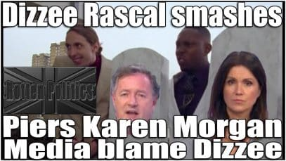 Piers tries to bait Dizzee Rascal