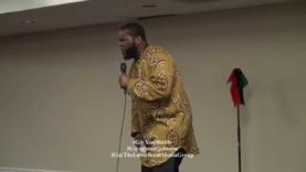 Dr Umar confronted by feminist.