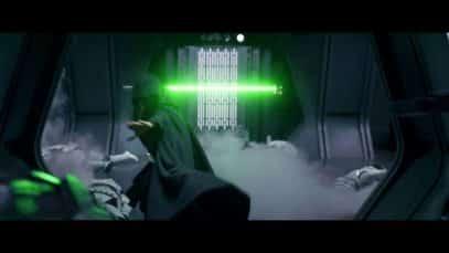 Lukes entrance at the end of Mandalorian season 2